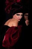 Femme fatale. Gespleten persoonlijkheid Stock Afbeeldingen