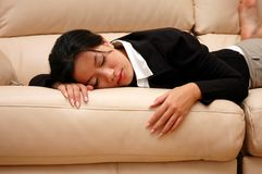 Femme fatigué Photos stock