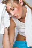 Femme fatiguée de santé images stock