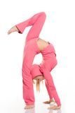 Femme flexible Photographie stock