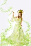 Femme florale de source photographie stock