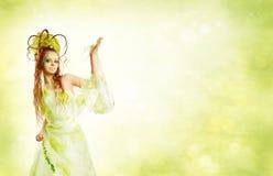 Femme florale de source image stock