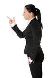 Femme folle d'affaires Photographie stock libre de droits
