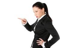 Femme folle d'affaires Photographie stock