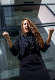 Femme forte d'affaires Images libres de droits