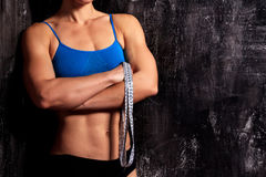 Femme forte de forme physique image stock