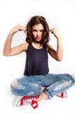 Femme forte fâchée Photographie stock libre de droits