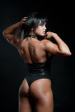 Femme forte musculaire photo stock