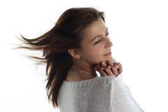 femme froide de gel Photographie stock libre de droits