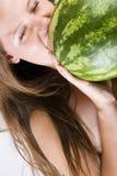Femme fruité Photographie stock libre de droits