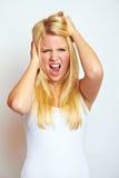 Femme frustrant Image stock