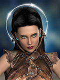 Femme futuriste illustration de vecteur