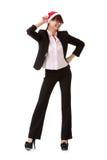 Femme gaie d'affaires Photographie stock libre de droits