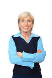 Femme gaie de cadre supérieur Photo stock