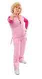 Femme âgée active dans la durée saine agréable Photo libre de droits