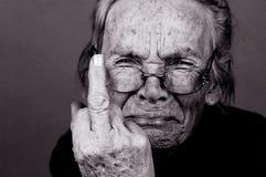 Femme âgée bouleversée Images libres de droits