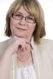 Femme âgée moyenne attirante Image libre de droits