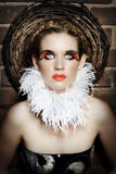 Femme gothique. photos stock