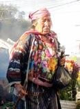 Femme guatémaltèque indigène photographie stock