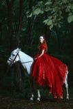 Femme habillée dans la robe médiévale image libre de droits