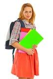 Femme heureuse d'étudiant Photo stock