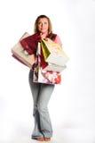 femme heureuse d'achats Photo libre de droits