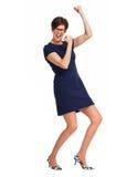 Femme heureuse d'affaires avec la coiffure courte Photographie stock