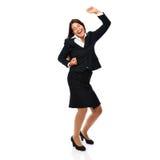 Femme heureuse d'affaires de danse Photos stock