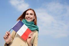 Femme heureuse de voyage de jeunes Photos libres de droits