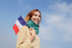 Femme heureuse de voyage de jeunes Photos stock
