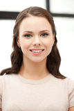 Femme heureuse et souriante Photo libre de droits