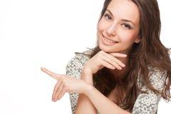 Femme heureuse magnifique de brune photo libre de droits