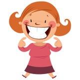 Femme heureuse souriant montrant son sourire et dents illustration stock
