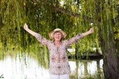 Femme heureux Photo libre de droits