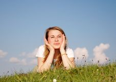Femme heureux images stock