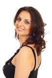 Femme heureux avec des œil bleu Image stock