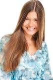 Femme heureux avec le long cheveu Photo libre de droits
