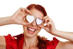 Femme heureux dans l'amour Photographie stock