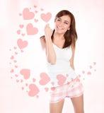 Femme heureux dans l'amour Photographie stock libre de droits