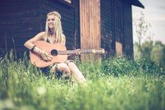 Femme hippie Photo libre de droits