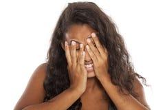 Femme honteuse Images libres de droits
