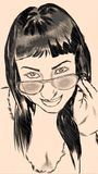 Femme illustré Image stock