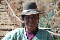 Femme inconnue sur l'île de la lune Images libres de droits