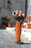 Femme indien avec des bacs Photo libre de droits
