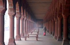 Femme indien dans des jardins de Taj Mahal Photographie stock libre de droits