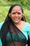 Femme indien dans la robe traditionnelle Photographie stock