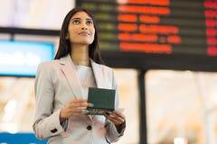 Femme indienne d'affaires Image stock