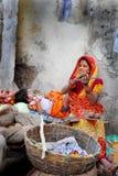 femme indienne du marché photo libre de droits