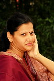 Femme indienne espiègle Photographie stock libre de droits