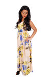 Femme indienne mince se tenant dans la robe Photo stock
